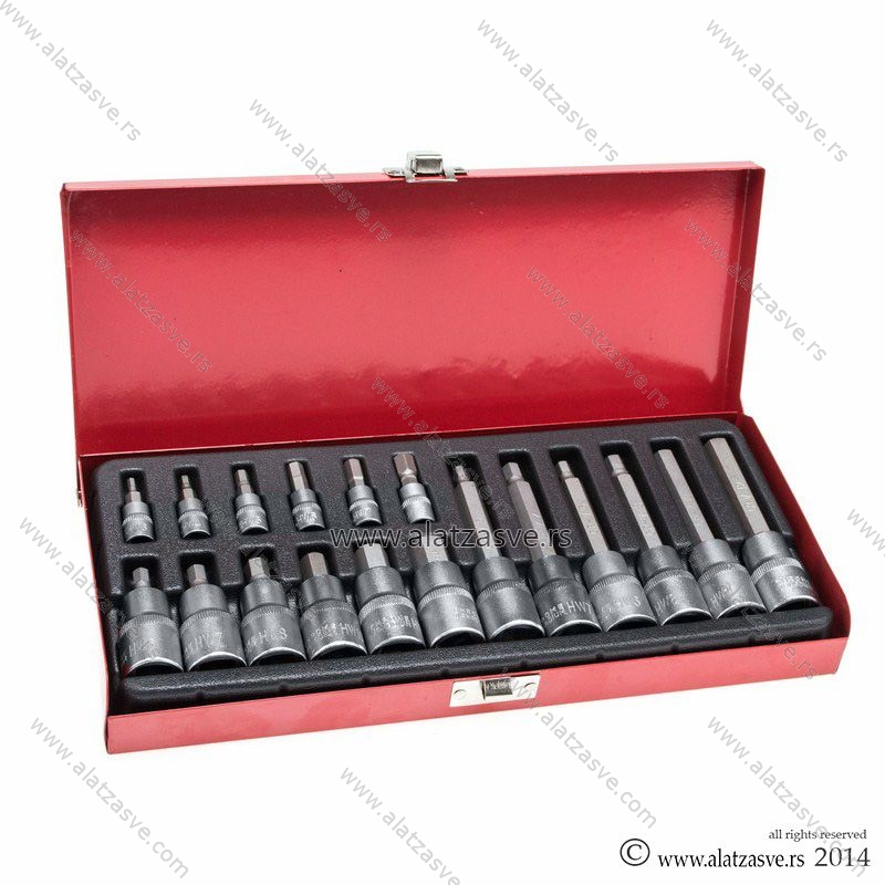Set nasadnjih ključeva IMBUS sa kutijom