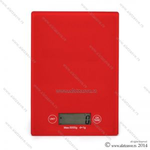 Digitalna vaga 1-5000g crvena