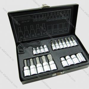 Set nasadnih ključeva TORX 23 kom