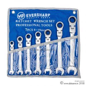 Set brzih zglobnih ključeva sa krckalicom 7 kom