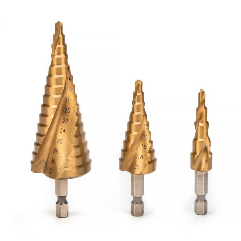 Set stepenastih burgija za metal 4-32mm HSS 3 kom